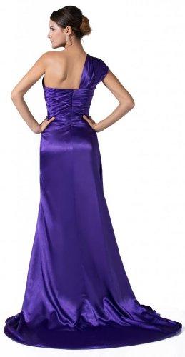 Orifashion para vestido de noche mujer un hombro Tirantes púrpura morado
