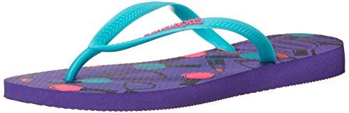 Havaianas Women's Slim Cool Flip Flop, Purple, 35 BR/6 M - Purple Havaianas