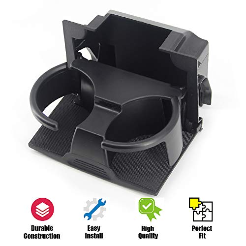 USTAR Cup Holder for 2005-2012 Pathfinder 2005-2015 Xterra 2005-2019 Frontier Replaces 96965-ZP00C Rear Seat Center Console Box (Black) (Color: Black)