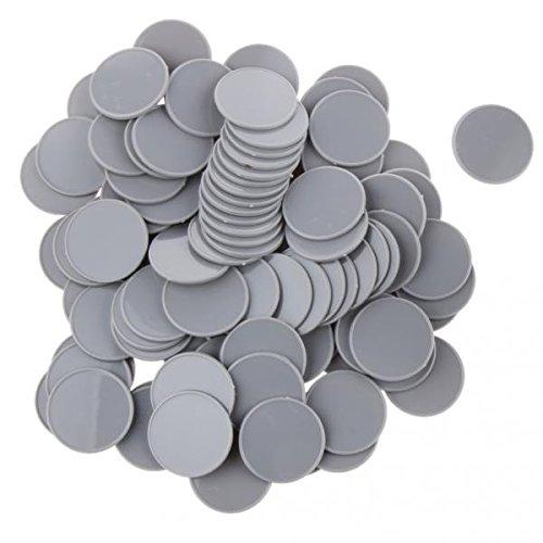 ノーブランド品  約200個入 カジノ ポーカーチップ ポーカーゲーム ボードゲーム チップ 32mm 11色選べる - グレー
