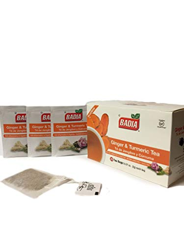75 Bags Ginger Turmeric Tea Digestive/Te de Jengibre y Curcu