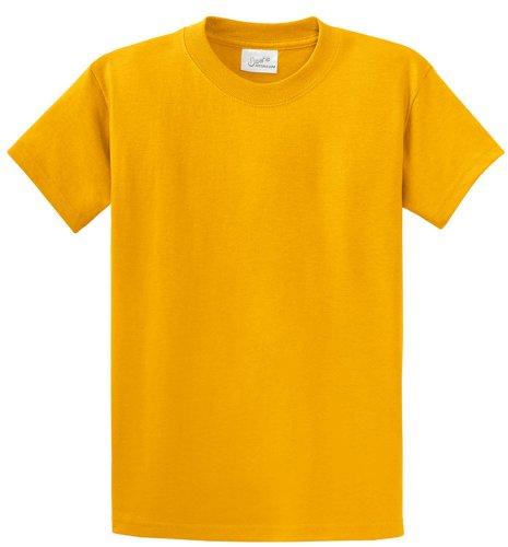 Joe's USA(tm - Youth Heavyweight Cotton Short Sleeve T-Shirt in Size M Gold ()