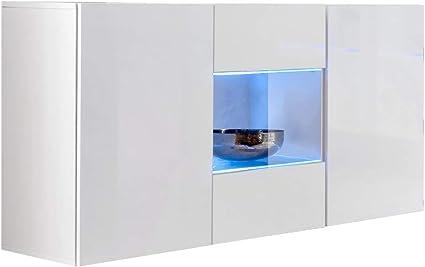 muebles bonitos – Aparador Colgante de diseño Varedo Blanco 120cm ...