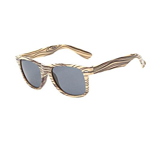 Sunglasses, Mchoice Women Men Vintage Wood-like Retro Glasses Unisex Fashion Aviator Mirror Lens Sunglasses - Sunglasses Clubmasters Like