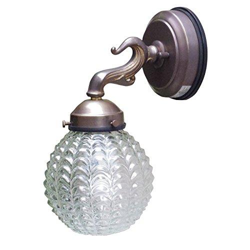 玄関 照明 電球色 屋外 ポーチライト 門柱灯 門灯 外灯 SW0237A 324 アンティーク風 レトロ ブラケット 照明器具 E17 付属電球 電球型蛍光灯60W型 B0778H7SJP 24408