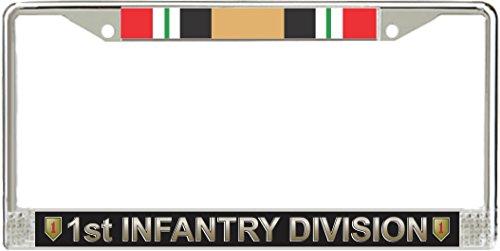 Iraq Service Ribbon - MilitaryBest 1st Infantry Division Iraq Veteran Service Ribbon License Plate Frame
