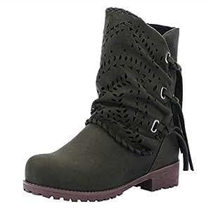 Zapatos Mujer Otoño Invierno Botines Mujer,ZARLLE Moda Botas ...