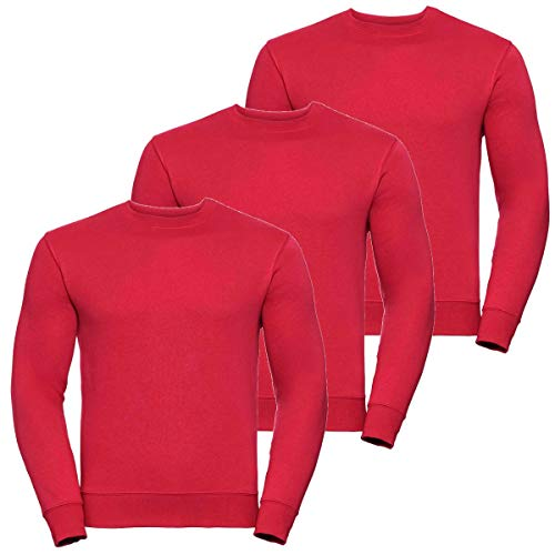 Manches It Longues Up Unique Motif Sweat 3 Style shirt Taille Pack Homme Red Aucun YUdq0fw