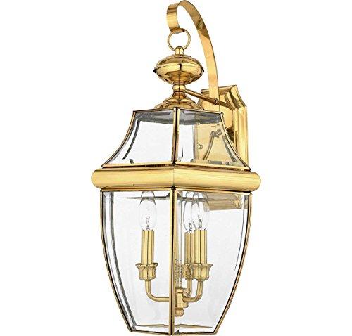 Quoizel NY8318B  Newbury 3-Light Outdoor Lantern, Polished - Shops Newbury