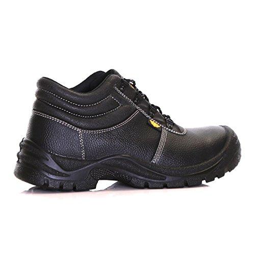 Slimbridge - Calzado de protección de Piel para hombre Negro