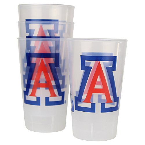 NCAA Frosted Plastic Tailgating Cups, 16oz.(4-Pack) (Arizona Wildcats)