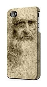 S0374 Da Vinci Face Case Cover for Iphone 4 4s
