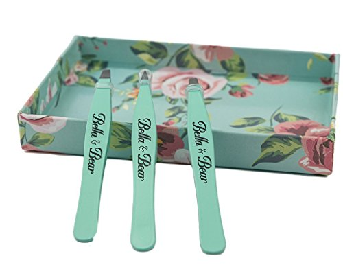 Eyebrow Tweezers by Bella and Bear - The Tweezers Set for Professional Shaping by Bella and Bear (Image #3)