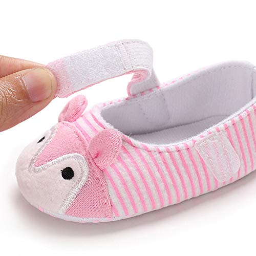 NUWFOR Infant Newborn Baby Girls Prewalker Cartoon Animal Ears Soft Sole Single Shoes(Pink,6~12 Month) by NUWFOR (Image #6)