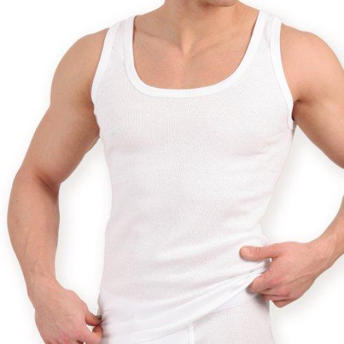 5x Herren Unterhemd Doppelripp Exclusive weiss-6