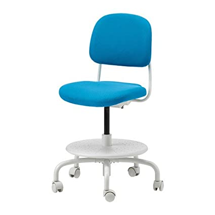 Peachy Amazon Com Ikea Childs Desk Chair Bright Blue Kitchen Theyellowbook Wood Chair Design Ideas Theyellowbookinfo