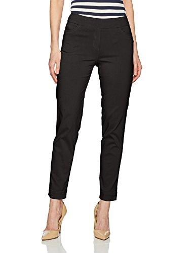 (SLIM-SATION Womens Ankle Pant, Black, 8)
