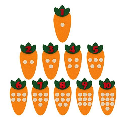 [해외]LJSLYJ 아 몬테소리 교육 완구 DIY 손 작 당근 매칭 자료 교육 완구 생일 선물 / LJSLYJ Kids Montessori Educational Toys DIY Handmade Carrot Matching Numbers Educational Toys Birthday Gifts
