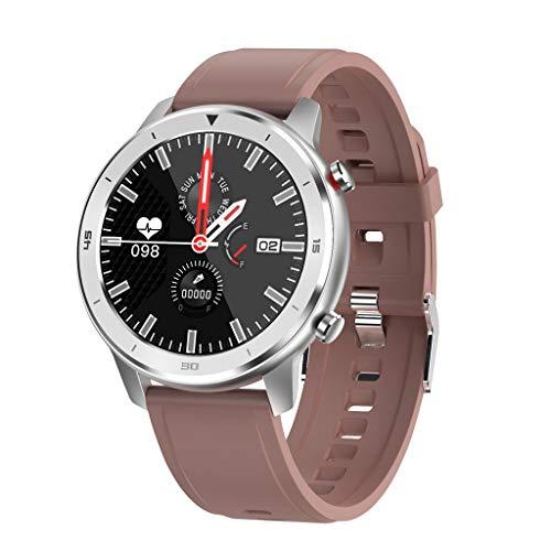 SoundJA Farbdisplay Runde Full-Touch Smartwatch IP68 Wasserdichtes Sport Smartwatch Fitness Armband Bracelet Remote…