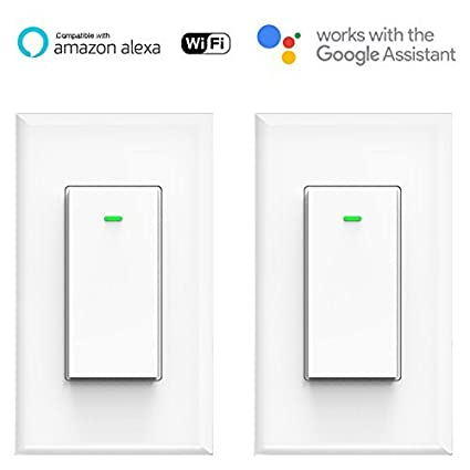 Smart Wifi Light Switch, No Hub Required, Phone Remote Control ...