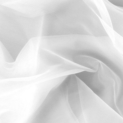 Somerset Industries, Inc. 108in Nylon Chiffon Tricot White Fabric By The Yard Fabric Nylon Tricot