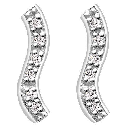 (0.24 Ctw Diamond Stud Earrings For Women By Orchid Jewelry : Hypoallergenic Sterling Silver Earring Studs, Wedding Earrings For Sensitive Ears For Brides, Nickel Free Dangling Earrings)
