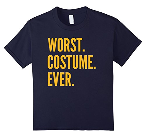 Last Minute Sports Halloween Costumes (Kids WORST COSTUME EVER Shirt Last Minute Costume Idea T-Shirt 12 Navy)