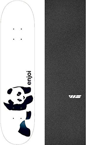 (Enjoi Skateboards Whitey Panda Skateboard Deck Resin 7-8
