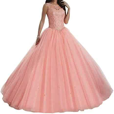 61272e5486 TuanYuan Sweet Girls 15 16 Ball Gowns Lace Tulle Women Quinceanera Dresses