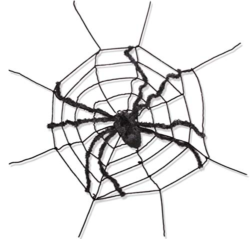 Spider Web Halloween Games (Narwhal Novelties Giant 5 Foot Furry Spider Web Attached Spider, 12
