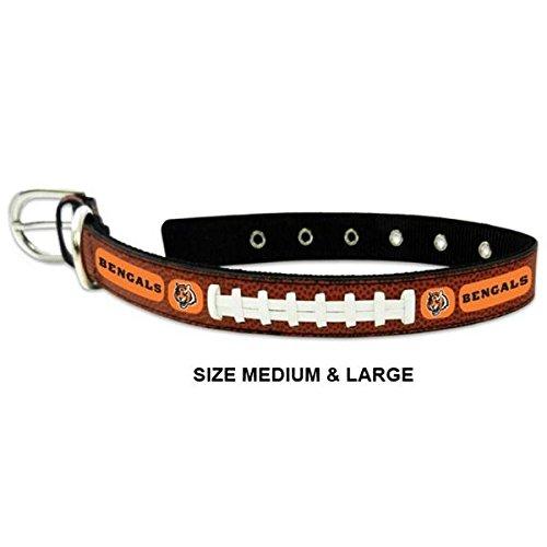 (Pet Care Preferred Cincinnati Bengals Classic Leather Football Collar - Small)
