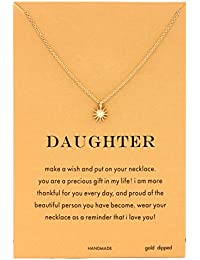 Star & Starburst Pendant Necklace Message Card Anchor Necklace for Women