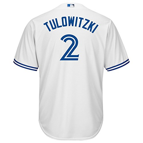 Majestic Troy Tulowitzki Toronto Blue Jays #2 MLB Men's Cool Base Jersey (X-Large) (Toronto Blue Jays Back To Back World Series)
