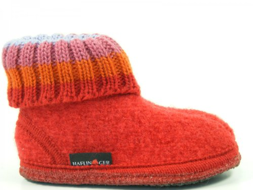 Haflinger Paul, Zapatillas de Casa, Infantil Rot