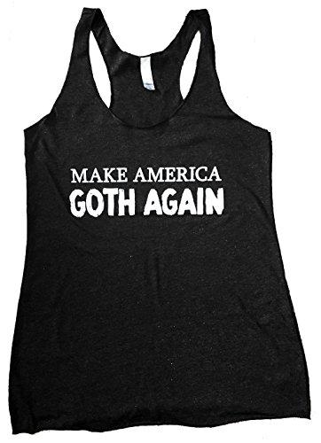 The Bold Banana Women's Make America Goth Again Tank Top - M - Heather Black ()