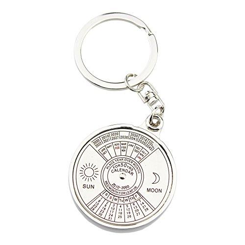 FOY-MALL Calendar Zinc Alloy Men Women Keychain J1033