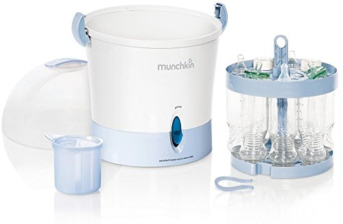 Munchkin Steam Guard Electric Sterilizer, Baby Bottle Pacifier Feeder
