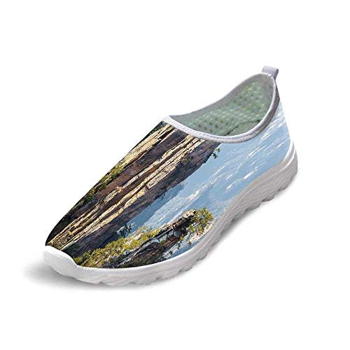 TecBillion National Park Comfortable Running Shoes,Rock Formations Natural Wonders of The World Asian Image for Men Boys,US 10 ()