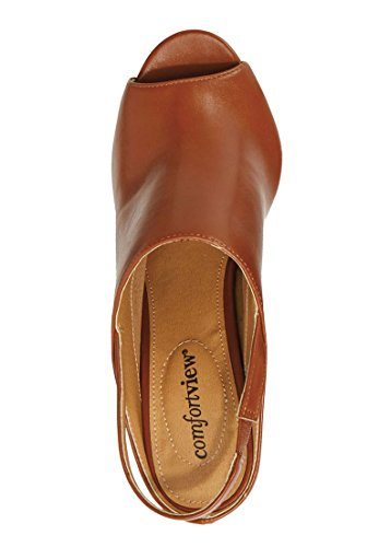 Comfortview Womens Oversize March Slingback Sandaal Zwart