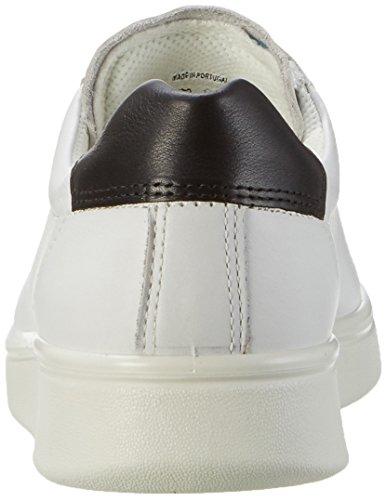 Brouge Donna Bianco ECCO Stringate Soft White 4 Black Scarpe wOqnzBI