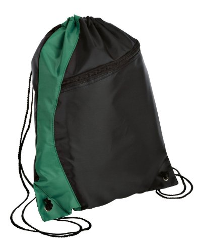 Port and Company BG80 Colorblock Cinch Pack – Hunter/Black – OSFA, Bags Central