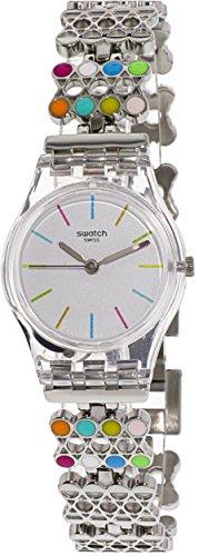 Swatch Women's Originals LK368G Silver Stainless-Steel Analog Quartz Fashion Watch
