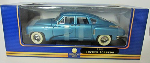 (1948 Tucker Torpedo 1:18 Scale Diecast - American Mint Premium Edition Blue Metallic)