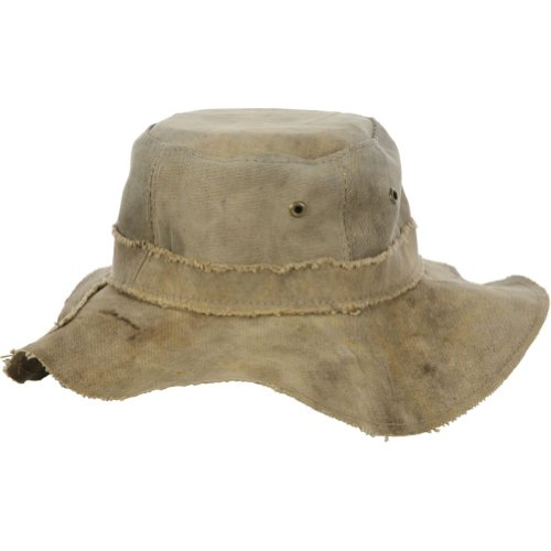Recycled Tarp - Real Deal Brazil Tan Recycled Cotton Canvas The Floppy Travel Hat L