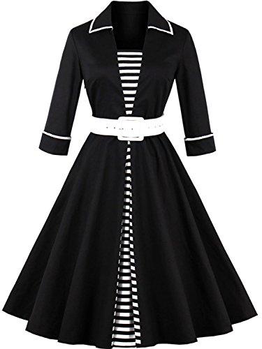 Vintage Wedding Dresses for Women Special Occasion,Black,M