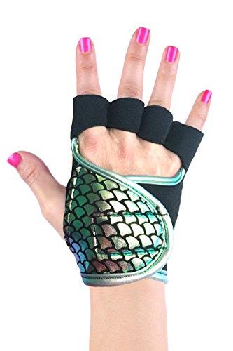 Womens Workout Gloves  S  Aquamarine