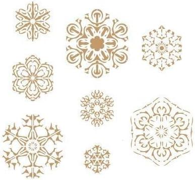 Medidas aproximadas TODO-STENCIL Deco Fiesta 008 Navidad Copos De Nieve Medida Exterior 20 x 20 cm Medida del dise/ño:17,6 x 16,3 cm