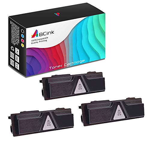 ABCink Compatible Toner Cartridge Replacements for Kyocera TK-142,for use in Kyocera FS-1100,4000 Yields(3 Pack,Black)