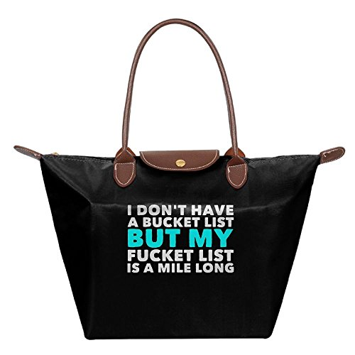 Adwelirhfwer Unisex I DON'T HAVE A BUCKET LIST Baby Bale Black by Adwelirhfwer