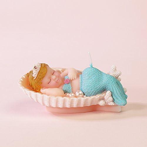 Amazon.com: Adorable bebé sirena velas de cumpleaños ...